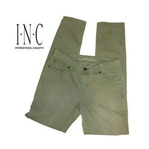 INC Denim Regular Fit Skinny Leg Jeans
